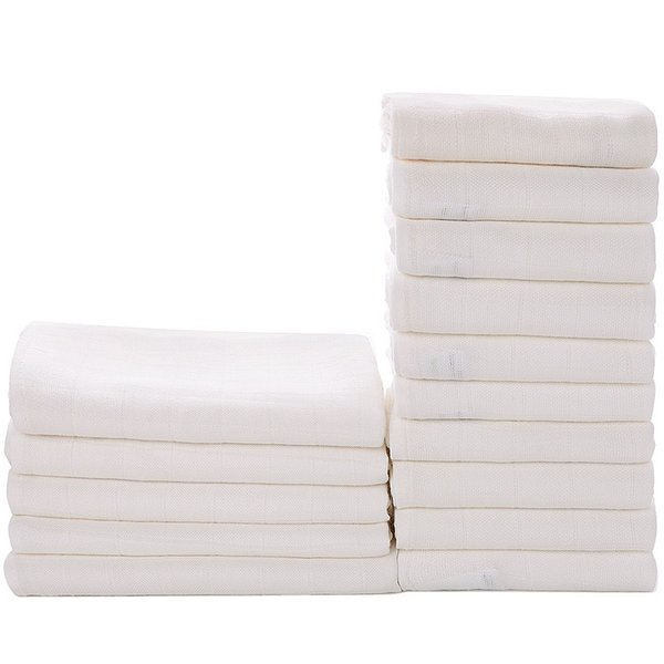 Washable Baby cloth Diaper Bamboo Fiber Reusable newbron Kids white Nappy Water Absorption Changing Pad blanket towel AAA2202