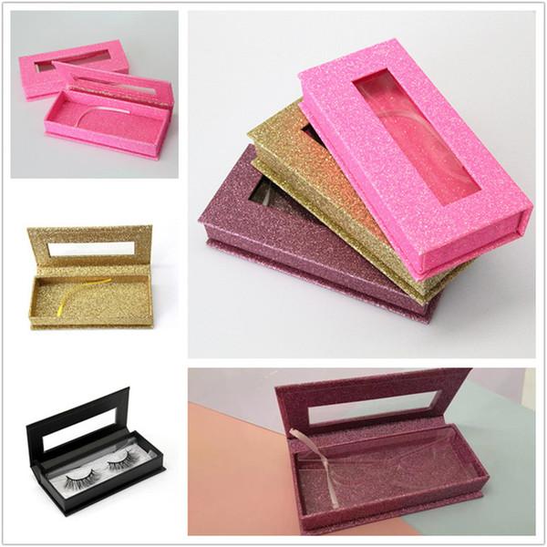 Magnetic Lashes Box 3D Mink Eyelashes Boxes Fake False Eyelashes Packaging Case Empty Eyelash Box tools