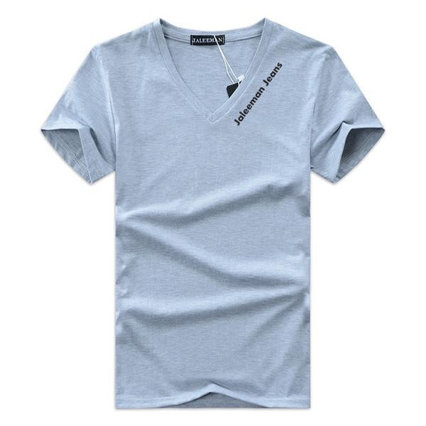 #34 Special Offer Men's T-shirts V-neck Plus Size S-5xl T Shirt Men Summer Short Sleeve Shirts Brand Tee Man Clothes Camiseta