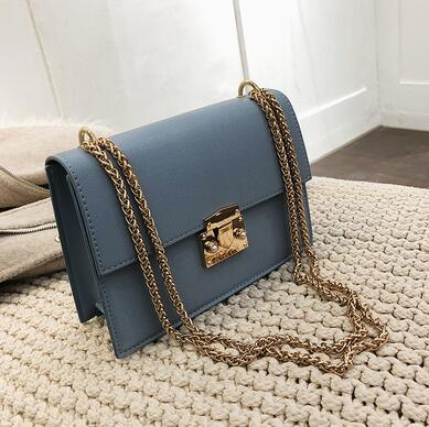 2019 new hot South Korea's new patent-leather instagram bag is a versatile chain bag with a single shoulder