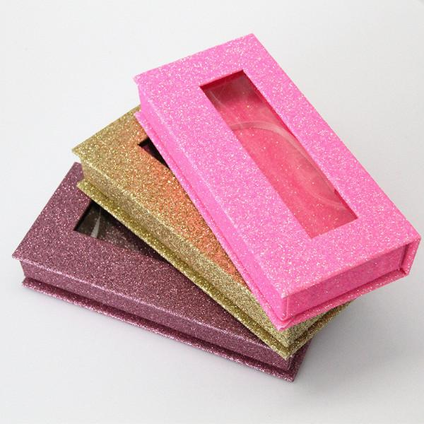 Magnetic Lashes Box con vassoio ciglia 3D visone Ciglia Scatole Ciglia finte Packaging bossolo vuoto del ciglio di trasporto libero della scatola