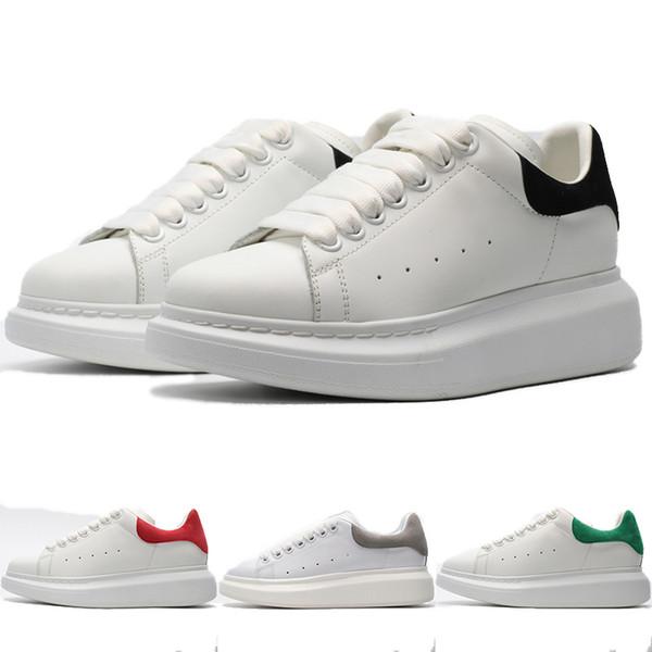Großhandel Neue Designer Schuhe Mode Luxus Frauen Schuhe Herren Leder Lace Up Plattform Übergroßen Komfort Sohle Turnschuhe Weiß Schwarz Flache