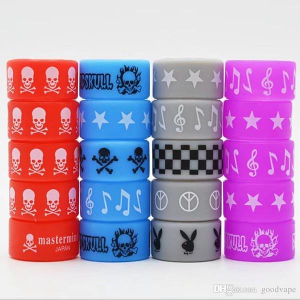 Ecigs Vape Bandas de silicona Anillo de banda de goma de silicona para Mech Mods Protección Vape Mod Bandas de goma Vape Tanques de vaporizador de colores DHL