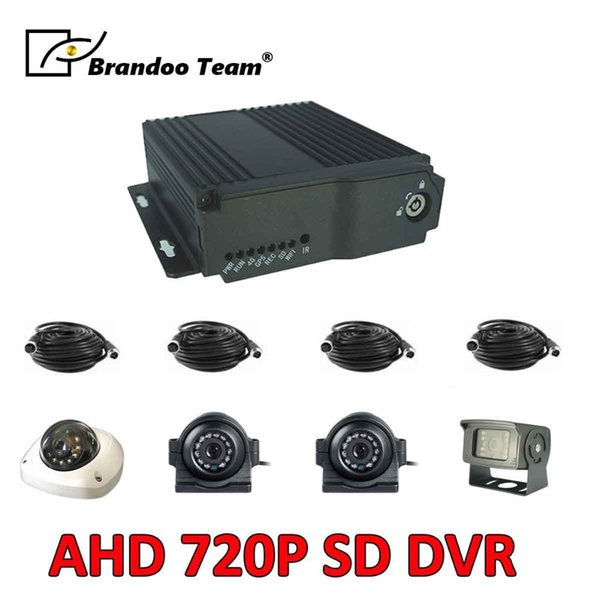 4 CHANNEL DVR VEHICLE CCTV SYSTEM,Mobile Dvr AHD Video Recorder 4CH Video/Audio Input truck Security System Vehicle Car