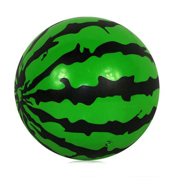 20CM Creative Inflatable Ball Simulation Watermelon Rubber Ball Beach Pool Play Early Education Gifts Soft Toys For Children Kid