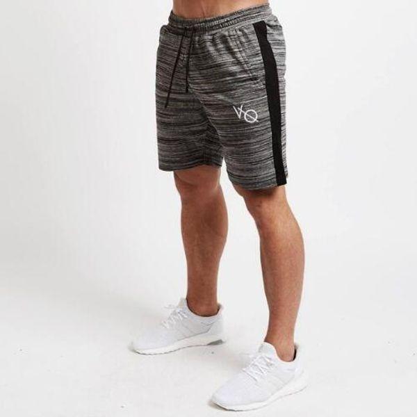 New Casual Mens Gym Shorts Summer Running Sports Short Men secado rápido Transpirable Fitness Short Pantalones Gyms Workout Stripes Ropa deportiva