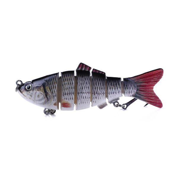 10cm Multi Sections 6 Segments Fishing Lure Jointed Minnow Swimbait Crankbait Artificial Hard Bait 3d Eyes Wobblers Treble Hook