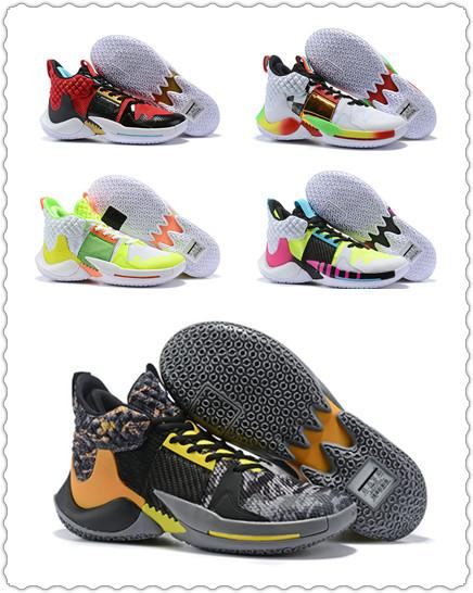 Nouveau Russell Westbrook Pourquoi Pas Zer0.2 Super Soaker Gym Rouge Hommes Chaussures De Basketball Lime Vert Blanc Noir Sport Baskets Taille 7-12
