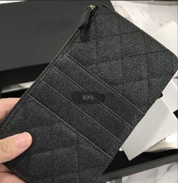 Großhandel - Echtes Leder Handy Tasche Kartenhalter Reißverschluss Poucht Münze Pocket Caviar lange Brieftasche heißer Verkauf Leder Brieftaschen