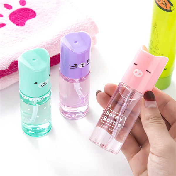 60 X 35ml Cute Cartoon Style Perfume Spray Bottle Transparent Square Spray Bottle Travel Lotion Bottle - Random Color