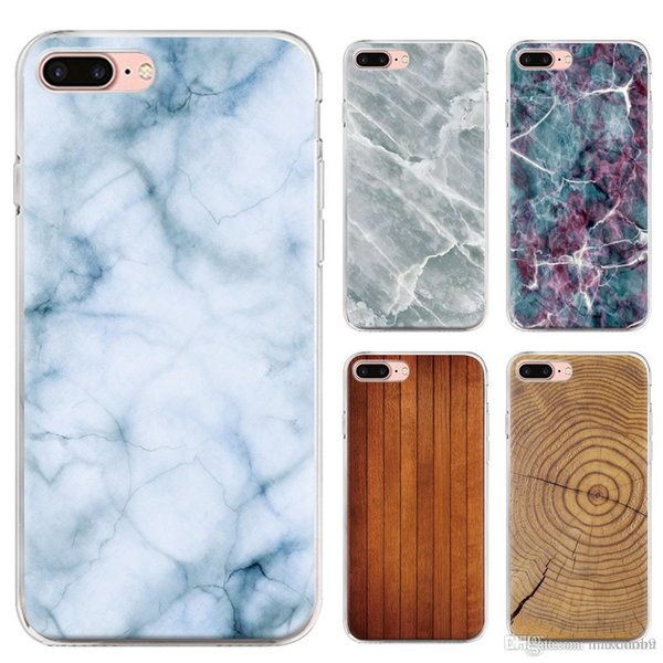 New cell mobile phone case for Iphone XS MAX XR X 6S 7 8 plus TPU bling printing marble bamboo wooden soft silicone case back cover note 9