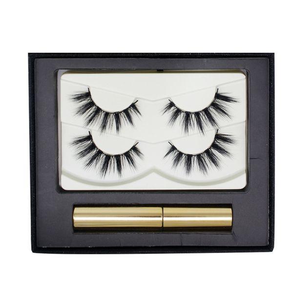 Hot New Magnetic Eyelashes 3D Faux Mink Eyelashes Magnetic Liquid Eyeliner Magnetic False Eyelashes Tweezer Set Magnet Lashes