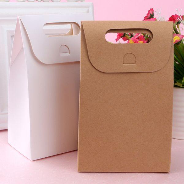 Cupcake New 20pcs Bag Brown Kraft Paper doces de casamento bolinhos bolo Embalagem Saco reciclável Pão partido Sacos