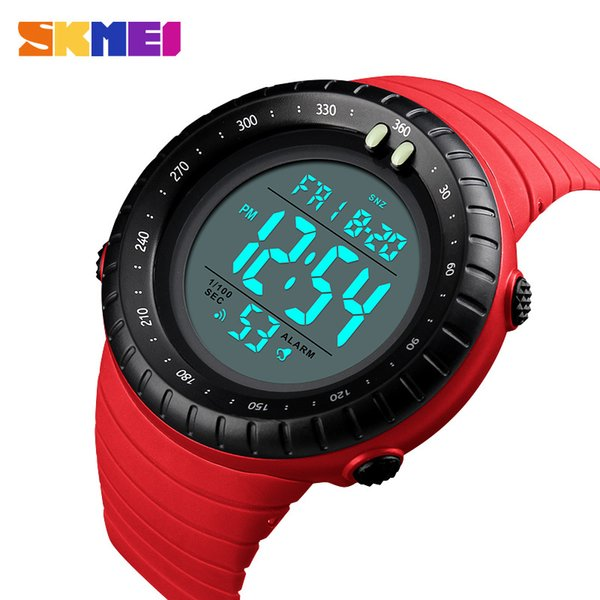 SKMEI Men Sports Watch Countdown Dual Time Digital Men Watches Sport Alarm Clock Waterproof Wristwatches Relogios Masculinos