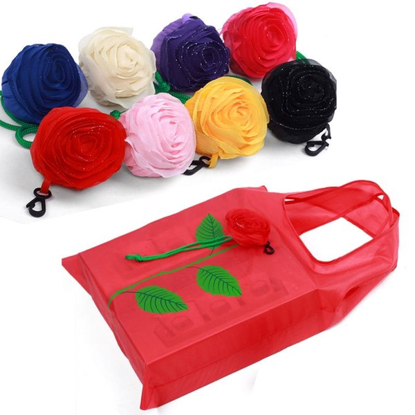 NEW Fashion Rose Flowers Reusable Folding Shopping Bag Tote Eco Storage Bags CN #89745
