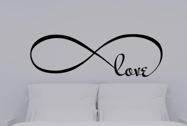 Acquista Adesivi Murali Camera Da Letto Decor Infinity Simbolo Parola Amore  Vinile Wall Sticker Decalcomanie Decorazione A $26.33 Dal Ianre | ...