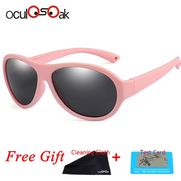 c9295cdcec Gafas de sol polarizadas para niños Gafas de sol ovaladas para niños Niñas  Niños Silicona Uv400 Espejo para niños Gafas para bebés Tr90
