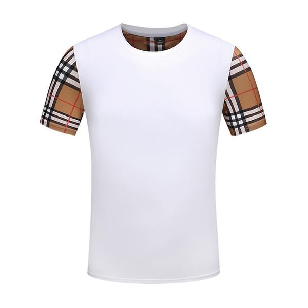 2019 dernier luxe haut T-shirt brodé de coton de couleur unie star shirt designer décontracté T-shirt à rayures Tee