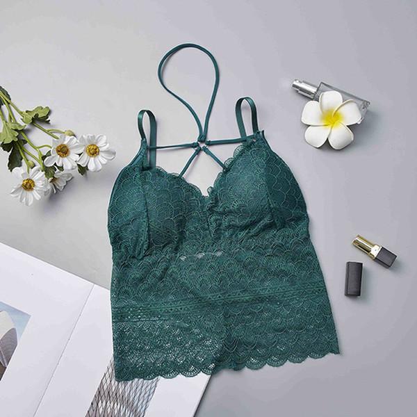 Verão Sexy Mulheres Tanque Tops Sutiã Bustier Colete De Renda Colheita Top Beleza Voltar Bralette Crochet Top