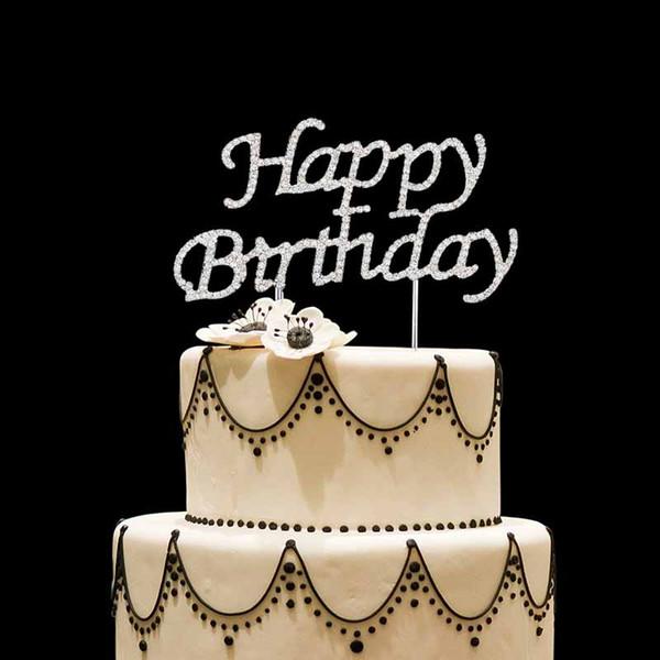 Acheter Joyeux Anniversaire Cake Topper Pour La Première 0 1 2 3 4 5 6 7 8 9 10 16 18 21 30 40 50 60 70 Enfant Adulte Garçon Fille Fête Danniversaire