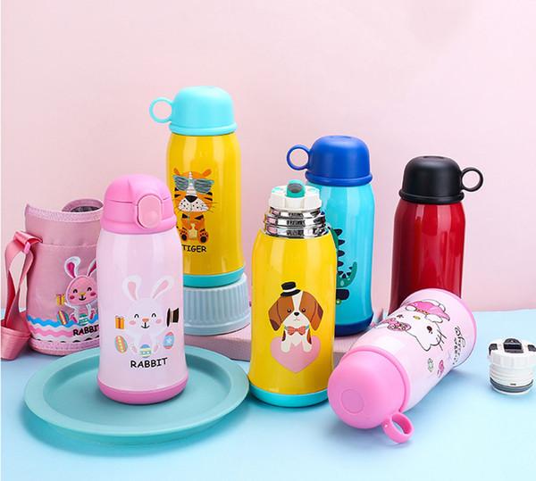 Bambino Strap Coppa d'isolamento Nuova 304 a doppio strato portatile Vacuum Insulation fumetto Pot anticaduta copertina Straw Cup
