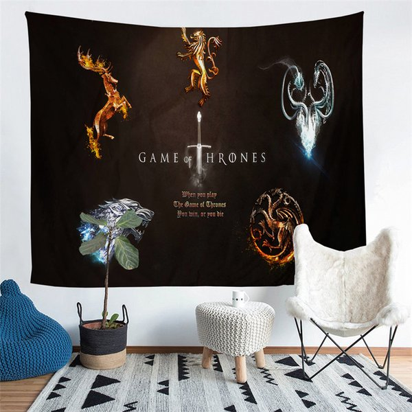 Home Furnishing Game of Thrones Tapestry Wall Hanging Sandy Beach Picnic Throw Rug Camping Tent Sleeping Pad