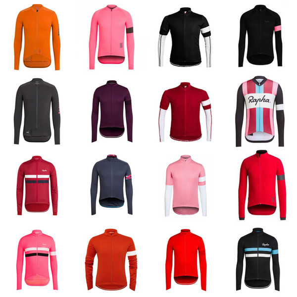 RAPHA team custom made Cycling long Sleeves jersey Mountain Sports Outdoor Comfort Men's Long Sleeve Slim Jersey S62011