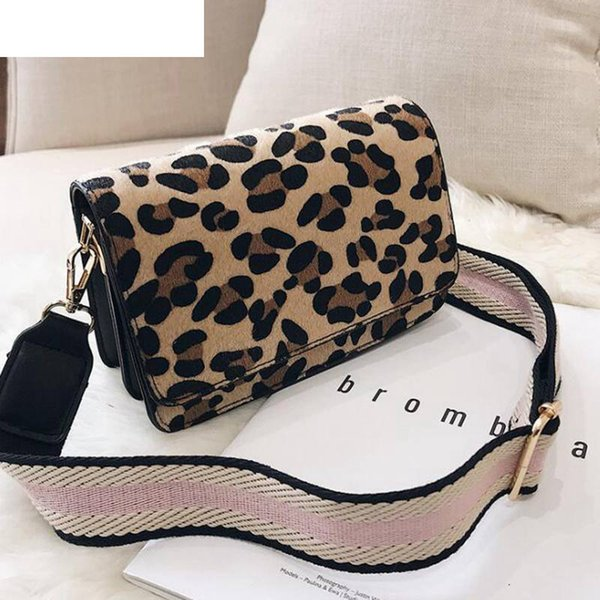 Leopard Print Small Flap Bags For Women 2019 Winter Crossbody Bags Lady Shoulder Hand Bag Handbags Fashion Retro Sexy Lw-204