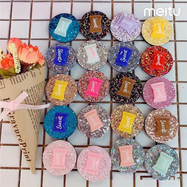 Bonbons téléphone titulaire supports de téléphone portable support airbag universel accessoires de téléphone cellulaire flash puce multicolore réglable