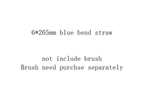 6 * 265mm الأزرق منحنى القش