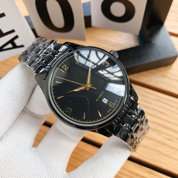 Sports Mens Watch Automatic Mechanical Movement 316 Stainless Steel Case Auto date Fashion Butterfly Buckle Strap Luxury Watch With Box