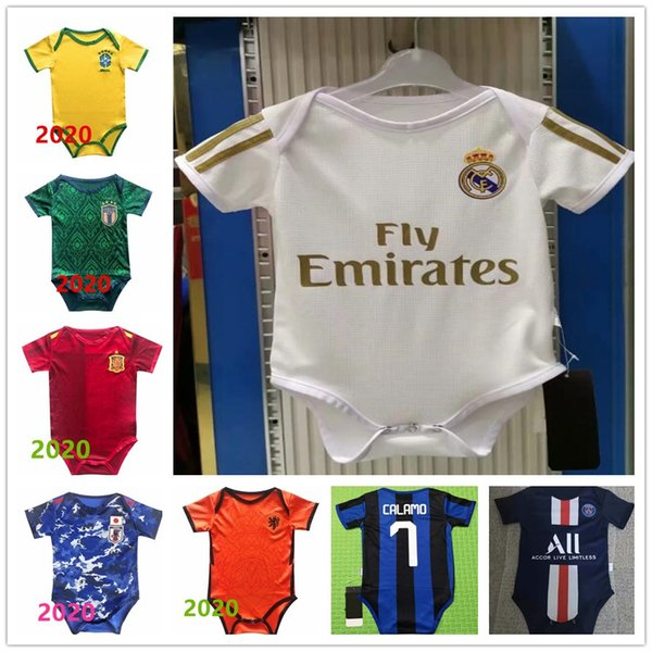 best selling The latest baby jersey 2019-20 1819 Real Madrid 2 star MBAPPE baby jersey 2019 20 Real Madrid 6-18 months baby shirt