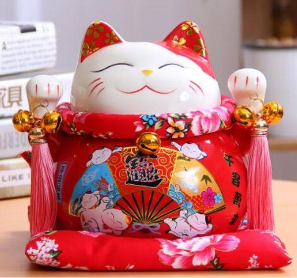 2019 A Lucky Cat Cat Ceramic Ornaments Opening Housewarming Gift Ideas Wedding Piggy Piggy Bank Size Felicitous Wish Wedding Gifts From Du12 6003