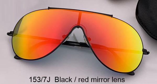 lentille miroir noir / rouge
