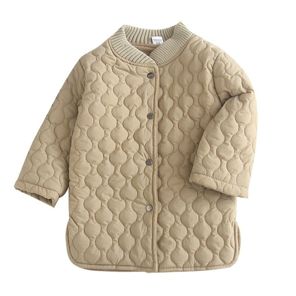 Autumn Winter New Arrival Korean Version Pure Color Cotton Warm Coats Fashion Thicken Jackets for Cute Sweet Baby Girls Clothes