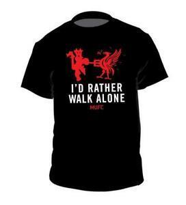 I 039 d Rather Walk Alone Print Футболка с надписью Football 2019ccer Man U Pogba Lukaku