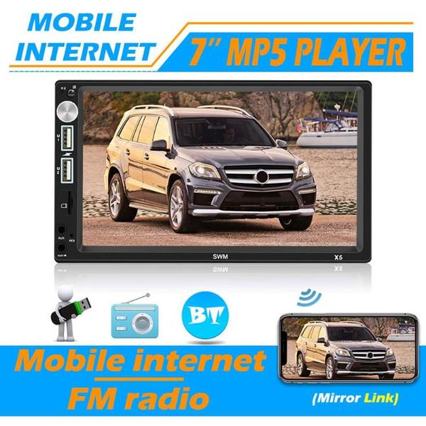 SWM X5 Duplo 2 DIN Car Stereo 7 polegadas Bluetooth AUX RCA FM Radio Unit cabeça