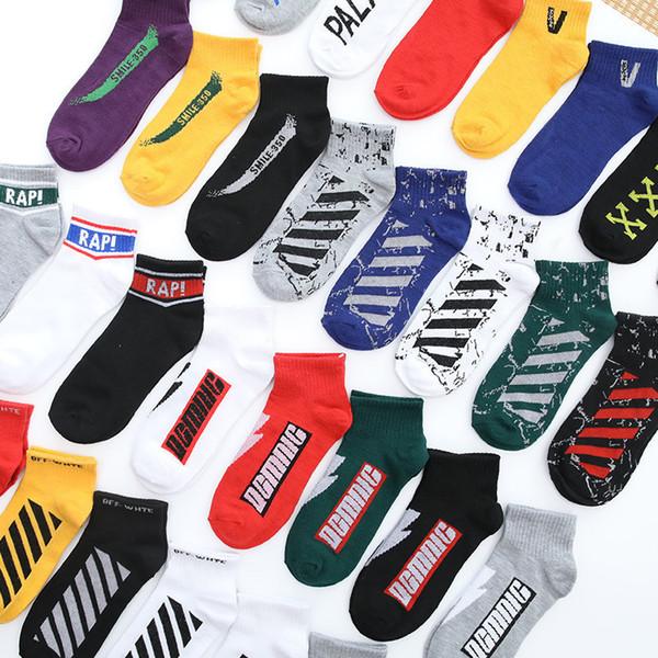 Designer coreano Tornozelo Meias Homens Meias de Algodão Chinelos Maple Leaf Tornozeleira Esportes Hip Hop Meias Curtas Dos Homens de Meias Meias Sneaker 15 Cores