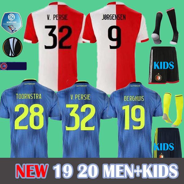 19 20 maillots de football Feyenoord Rotterdam à domicile 2019 11 LARSSON 32 V.PERSIE 19 BERGHUIS 10 VILHENA 9 JORGENSEN Feyenoord Football CHEMISE EN JERSEY