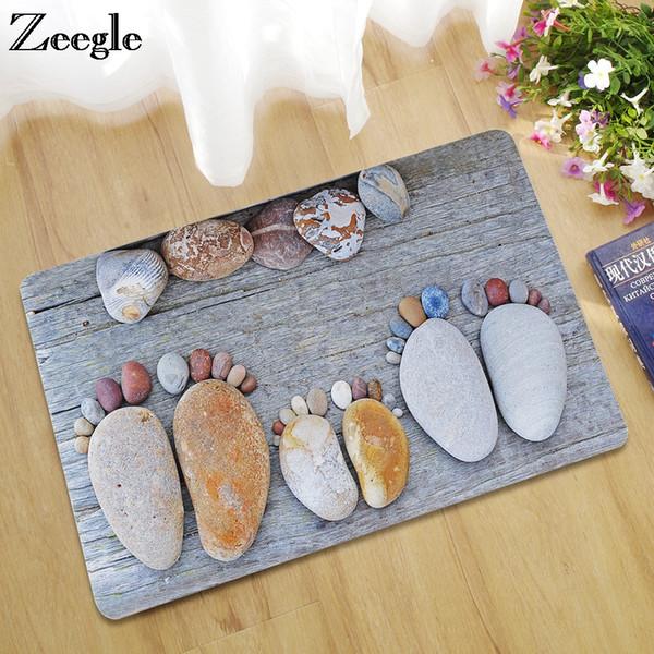 Zeegle Rubber Doormat Outdoor Rugs Stone Prinetd Kitchen Mat Bathrom
