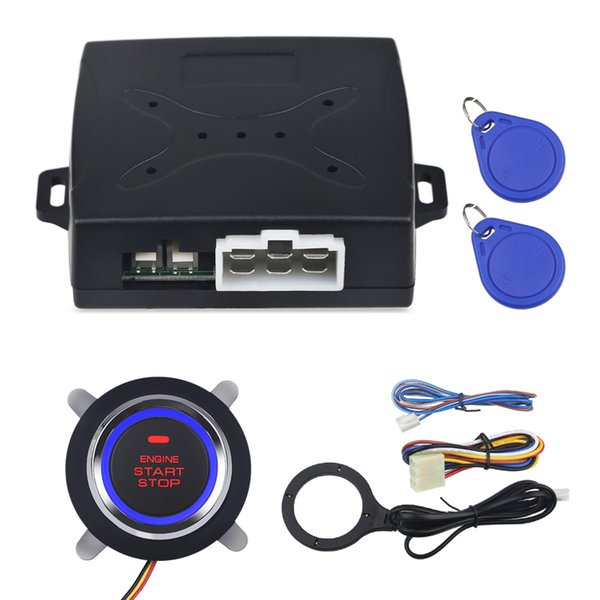 Auto Car Alarm Car Engine Push Start Button RFID Lock Ignition Starter Keyless Entry Start Stop Immobilizer Stop system
