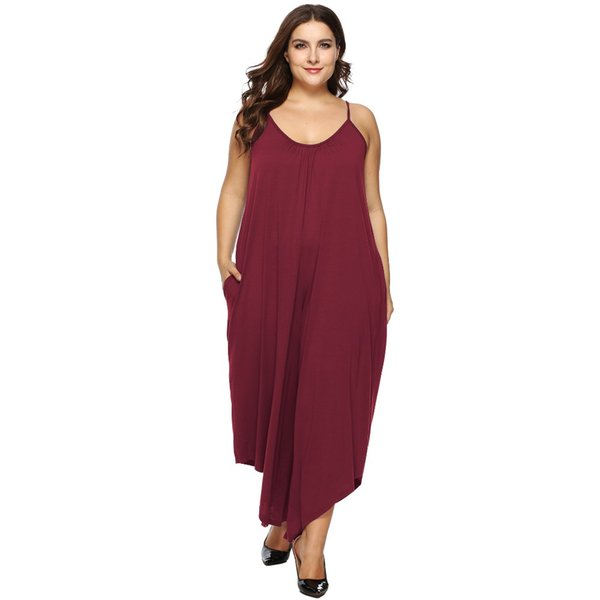 Women fashion chiffon full length jumpsuits plus size