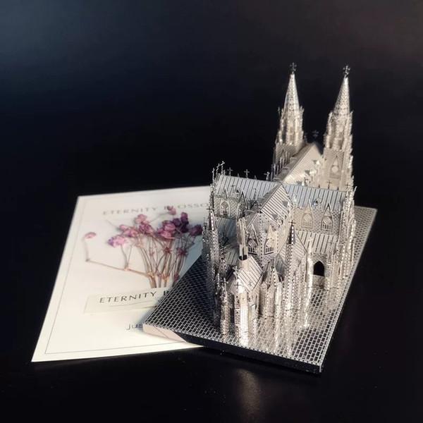 3D لغز الجمعية معدن نموذج DIY اللعب الشهيرة بناء الديكور بيغ بن القديس باتريك كاتدرائية هدية عيد ميلاد