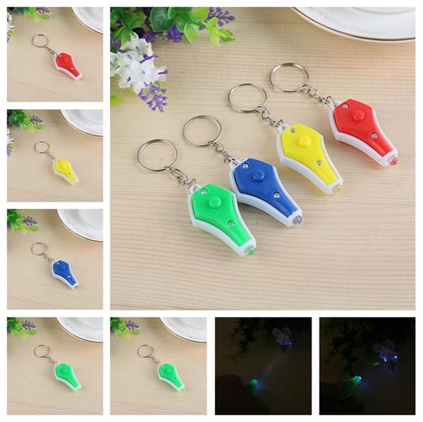 Четыре цвета рука щепотка Мини ваза светодиодная фиолетовая лампа банкноты проверить лампу брелок моды T3I5073