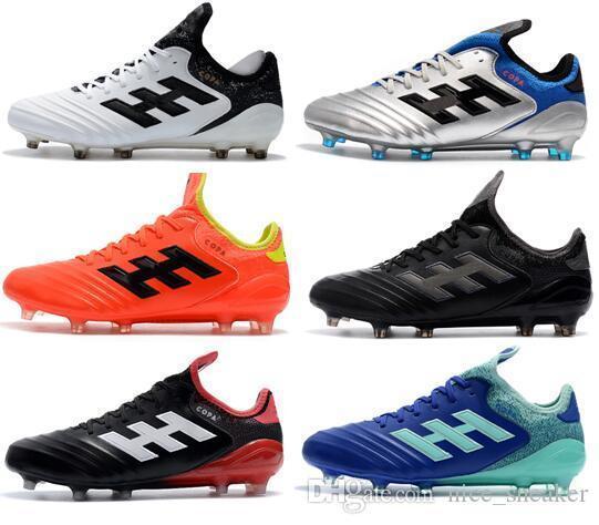 2019 New Top Mens Messi Copa 18.1 FG Zapatillas de fútbol Chaussures De Football Boots Zapatillas de fútbol para exteriores Zapatillas de fútbol para la copa del mundo