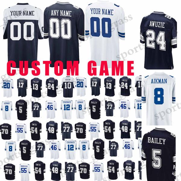 promo code 16b17 92e91 2019 Custom Game Dallas Cowboys Jerseys 19 Brice Butler 90 DeMarcus  Lawrence 5 Dan Bailey 20 McFadden 48 Johnston 54 Smith Jersey From  Sports_grass, ...