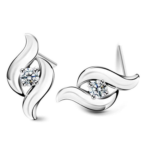 Top quality 925 itens de prata esterlina jóia de cristal brincos encantos étnicos do casamento do vintage nova chegada