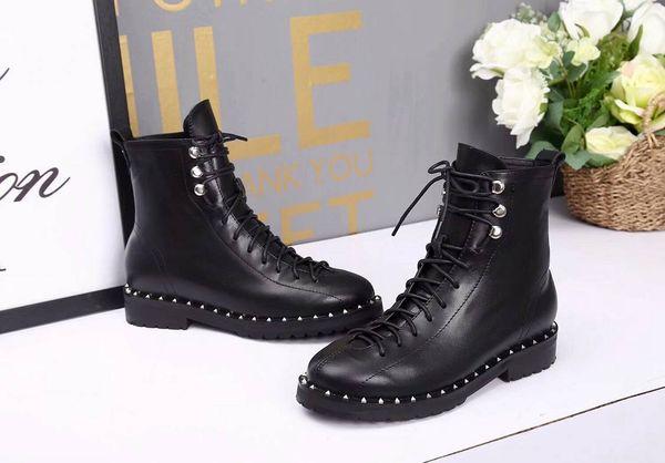 Bottes de femme en cuir verni Knight bottes en cuir de mouton sexy talon épais pour femmes chaussures Martin