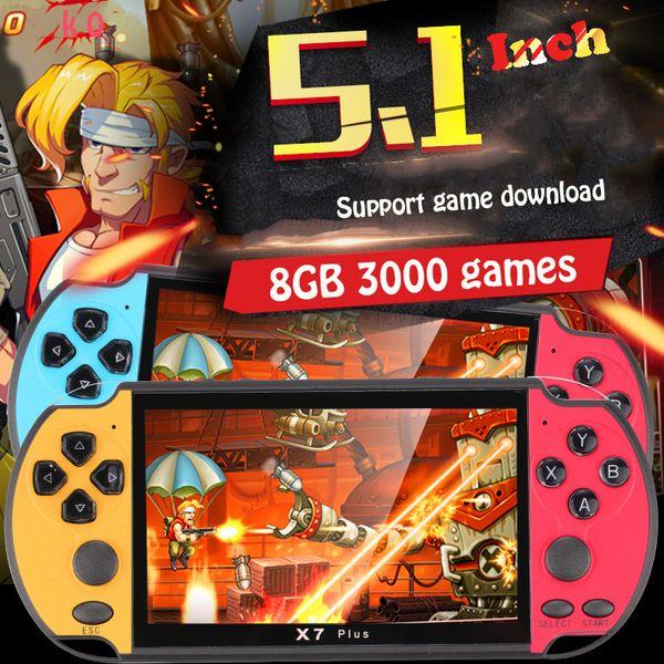 RS-06 jugadores Handheld del juego de 5.1 pulgadas consola de videojuegos pantalla incorporada en 3000 juegos clásicos Progreso Guardar / Cargar 32GB mejor regalo