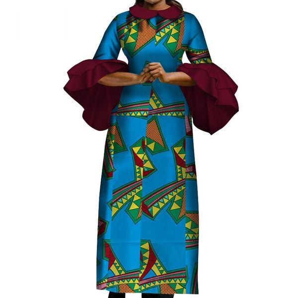 La nouvelle mode des femmes africaines s'habille sexy africaine robe blanche gaze et coton produit désencrage vêtements mince robe longue WY3728